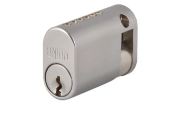 Union 2x1 Single Keyed Half Oval Cylinder