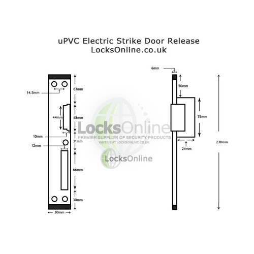 uPVC Door Electric Strike Release