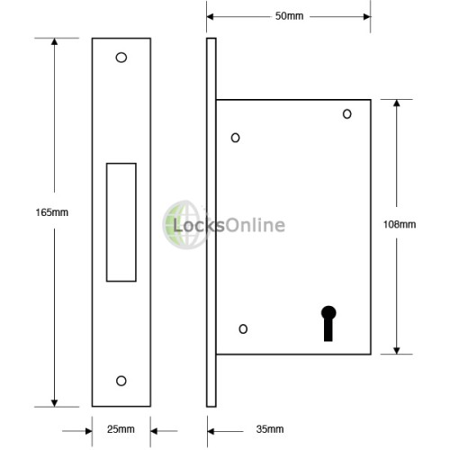 5-Lever Deadlock for Aluminium / Narrow-Stile Doors
