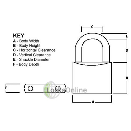 Squire SB50 Cylinder Padlock