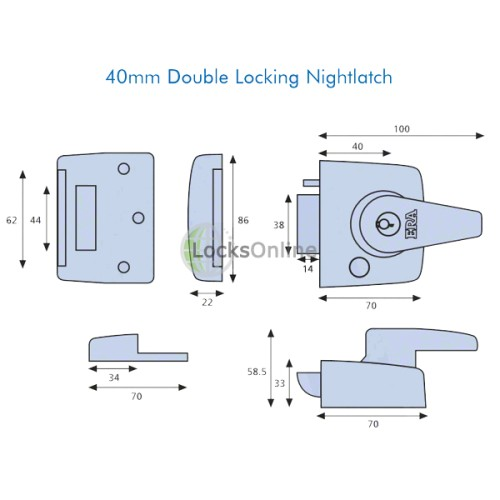 ERA 183 & 193 Auto-Deadlocking Nightlatch with Holdback