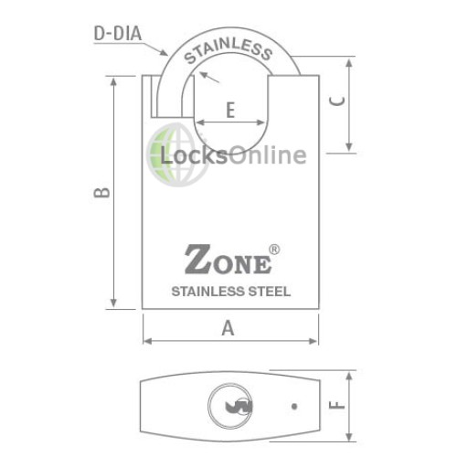 Zone 300 Closed Shackle Stainless Steel Padlocks