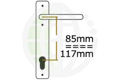Offset 85/117mm PZ Centres uPVC Handles