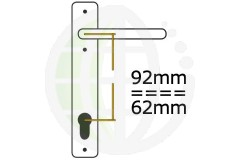Offset 92/62mm PZ Centres uPVC Handles