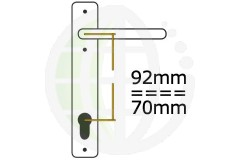 Offset 92/70mm PZ Centres uPVC Handles