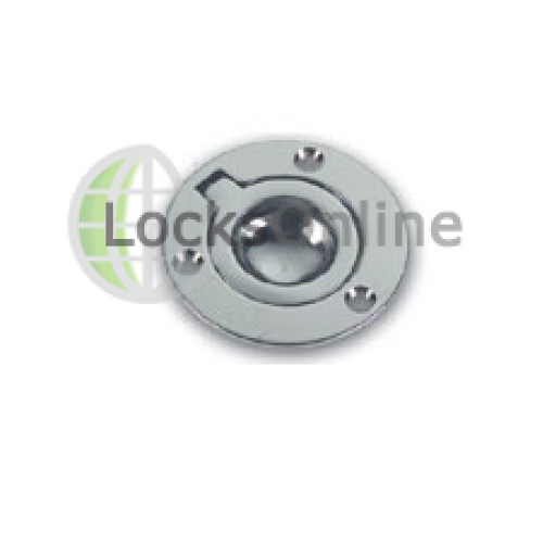 Main photo of Marine Lifting Ring: Circular Classic Brass or Chrome Plated