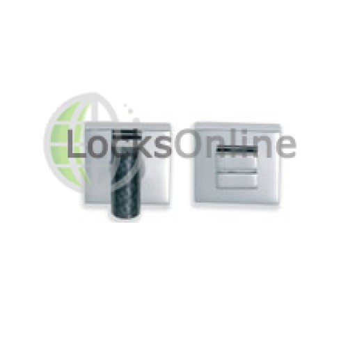 Main photo of Marine Square Bathroom Privacy Locks in Chromium