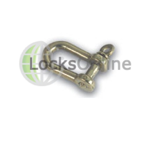 Main photo of Narrow Elongated Shackles in Brass or Chromium Plated Art No. 80c