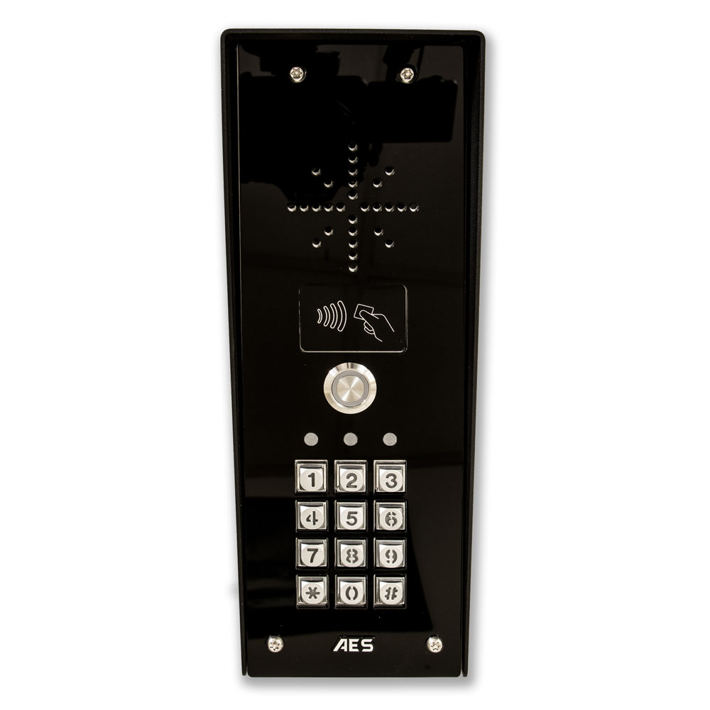 LocksOnline AES Imperial Black GSM Prox Intercom System Front
