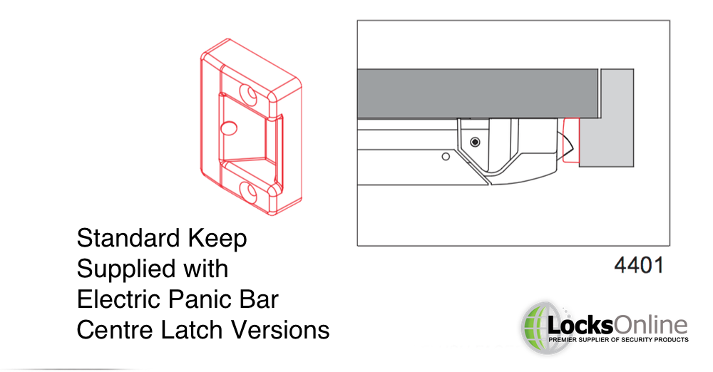 Keeps included with the Electronic Exidor Panic Bar