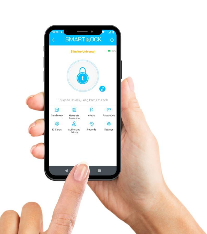 SmartLock App on SmartPhone