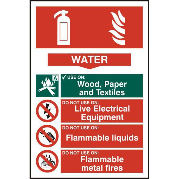 ASEC Fire Extinguisher 200mm x 300mm PVC Self Adhesive Sign