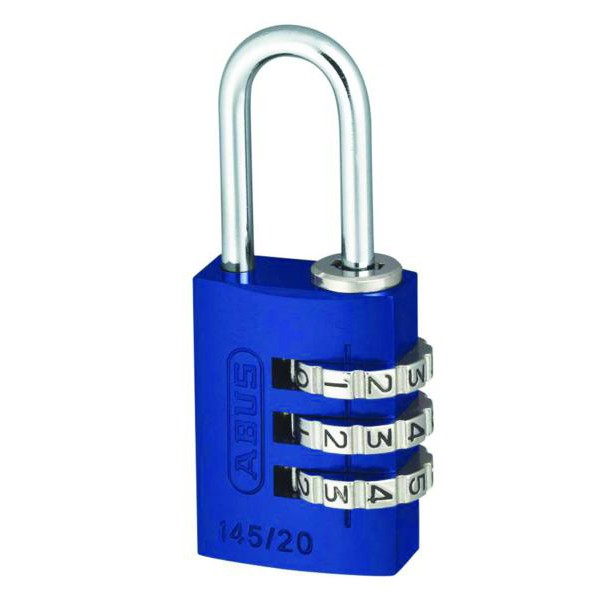 Compare prices for ABUS 145 Series Coloured Aluminium Combination Open Shackle Padlock
