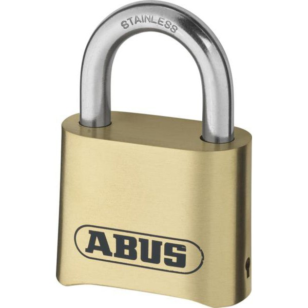 Buy Brand New ABUS 180IB Series Brass Combination Open Stainless Steel Shackle Padlock