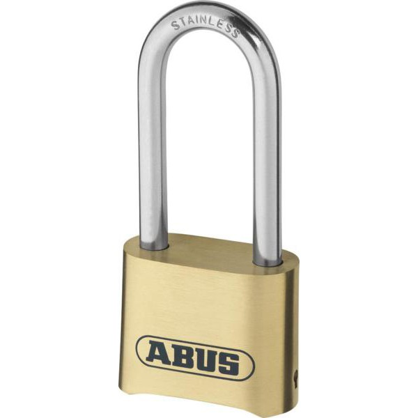 Compare prices for ABUS 180IB Series Brass Combination Long Stainless Steel Shackle Padlock