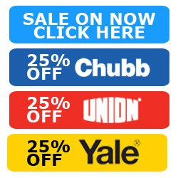 25% off Yale Chubb and Union products